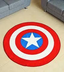 america shield round rug