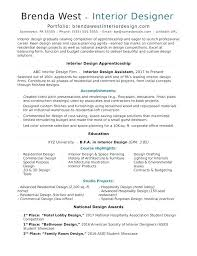 Examples Of Interior Design Resumes Resume Letter Collection