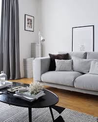 living room update part one the ikea nockeby sofa is in it s contemporary fy and the perfect shade of grey ikea nockeby