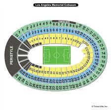 La Coliseum Seating Chart View Los Angeles Memorial Coliseum Los Angeles Ca Seating