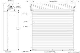 Commercial Garage Door Size Chart Rough Opening For Roll Up Garage Doors Door Opening Size Chart