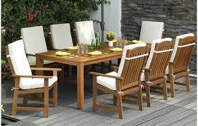 faux wood patio furniture decoration wood patio dining set modern walker edison arcadia 7 piece faux wood patio furniture