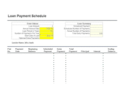 Amortization Schedule Excel Template Printable Loan Payoff