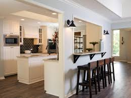 Kitchen:Magnificent Kitchen Bar Design Ideas With Long Bar Island Table  Complete Unique Stools Also