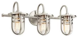 style bathroom lighting vanity fixtures bathroom vanity. Kichler Lighting Caparros Bathroom Light Beach Style Popular Of Vanity Fixtures Brushed Nickel A