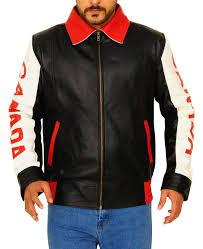 men s canadian flag leather jacket