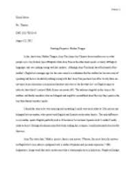mother tongue essay full text  mother tongue essays and papers