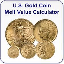 Silver Coin Weight Chart 18k Gold Melt Value Calculator
