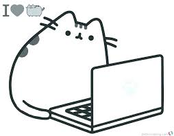 Download Cute Cat Coloring Pages Easy Pictures