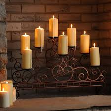 scrolled copper fireplace candelabra fireplace candle holderfireplace
