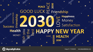 happy new year 2030. Simple 2030 New Years Card Happy New Year 2030 And Wishes U2014 Stock Photo For Year