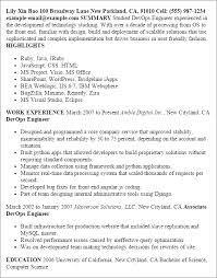 Gallery Of Sample Resume For It Jobs In India Sample Resume Of Fmcg