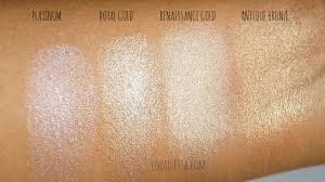 sleek precious metals highlighting palette swatches