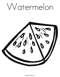Small Picture Watermelon Coloring Page Twisty Noodle