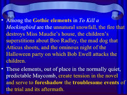 to kill a mockingbird theme motifs symbols  15 <ul><li>among the gothic elements in to kill a mockingbird
