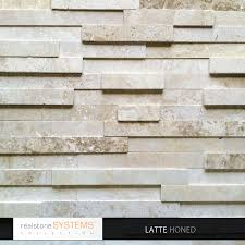 Latte Honed Collection Veneer From Realstone Systems Fireplace - Exterior stone cladding panels