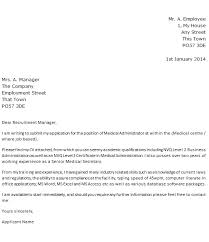 Medical Administrator Cover Letter Example Learnist Org