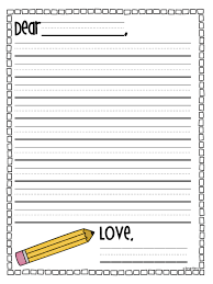 write my 1st grade writing paper