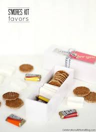 smores kit favors in a gift box