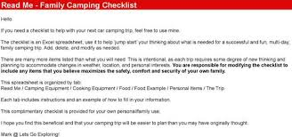 Download Camping Checklist Excel For Free Page 2 Tidytemplates