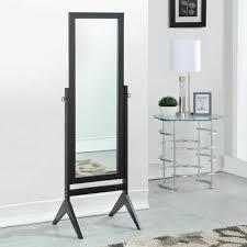 rectangular floor mirror tilt wood frame free standing cheval full length black