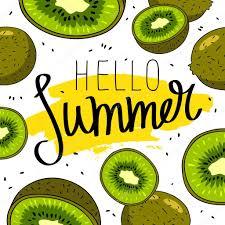 こんにちは夏を引用しますおしゃれな書道 ストックベクター Chekat