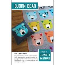 Bear Quilt Patterns | eBay & BJORN BEAR BY ELIZABETH HARTMAN QUILT PATTERN FQ FRIENDLY TRADITIONAL  PATCHWORK Adamdwight.com