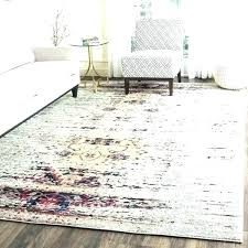 pink vintage rug distressed ivory target area gray wool tufted oriental no light