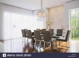 Modernes Interior Design Luxus Esszimmer Mit Glas Esstisch