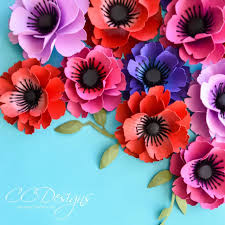 Flower Templates For Paper Flowers Small Poppy Paper Flower Template