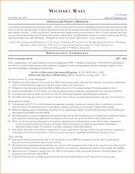 Resume Healthcare Project Manager Resume