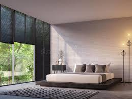 modern loft furniture. Download Modern Loft Bedroom With Nature View 3d Rendering Image Stock Illustration - Of Grating Furniture L
