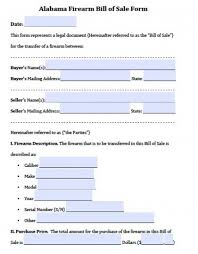 Legal Bill Of Sale Free Alabama Gun/Firearm Bill of Sale Form | PDF | Word (.doc)