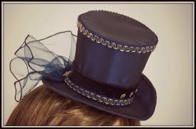 in mini top hat tutorial steunk clothing inspiration to sew steunk fashion