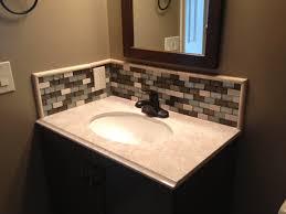 Glass Tile Bathroom Backsplash - Tile backsplash in bathroom