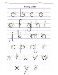 Lower Case Letter Practice Sheet How To Describe Forming Each Letter Teaching My Kids Handwriting