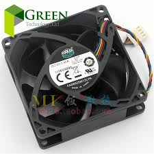 80mm fan. the original cooler master fa08025m12lpa 8025 80mm 8cm 80*80*25mm computer case cpu cooling fan 12v 0.45a with pwm 4pin 80mm