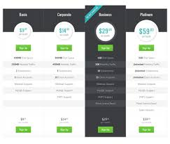Price Chart Template Modern Pricing Table PSD Free Web UI Elements Pinterest 23