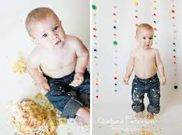 Baby Boys Smash Cake Session Ashlee Marie Real Fun With Real Food