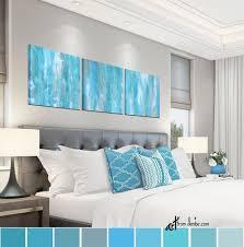 aqua bedroom wall art teal blue gray