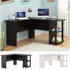 home office desk corner. Wood Corner Computer Desk Home Office L-Shaped Workstation Table With Bookshlef