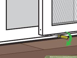 image titled remove a sliding screen door step 06