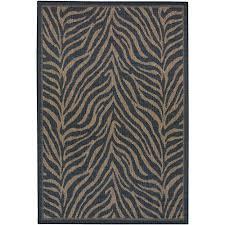 recife zebra black cocoa 5 ft x 8 ft indoor outdoor area