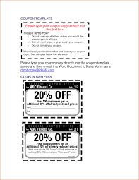 Coupon Sample Template 24 Microsoft Word Coupon Template Teknoswitch 22