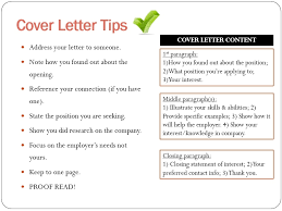 Cover Letter Writing Tips All About Letter Examples