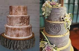 Wedding Cake Of The Day Rustic Wood Wedding Cake