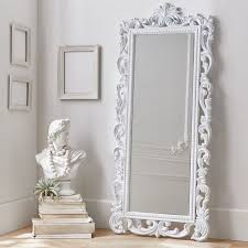 White Floor Length Mirror Kreyol Essence