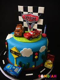 Songiah Kurts Cars Birthday Cake