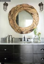 Wood mirror frame shows that frames don't have to be rectangular to be bold.