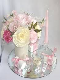 romantic wedding decor pink bridal decor wedding centerpieces baby shower decor bridal shower decor faux fl decor paper flowers 2179510